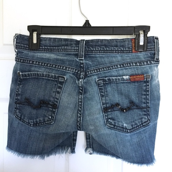 7 For All Mankind Pants - 7FAM Cut Off Shorts Size 25